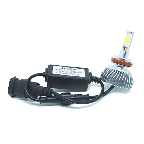 Par Lâmpada Super Led 6400 Lumens 12V 24V 35W Shocklight H11 6000K