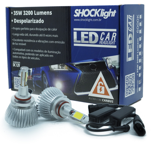 Par Lâmpada Super Led 6400 Lumens 12V 24V 35W Shocklight HB3 9005 6000K  - BEST SALE SHOP