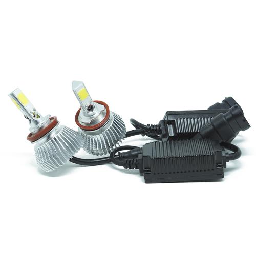 Par Lâmpada Super Led 7400 Lumens 12V 24V 3D H8 6000K  - BEST SALE SHOP