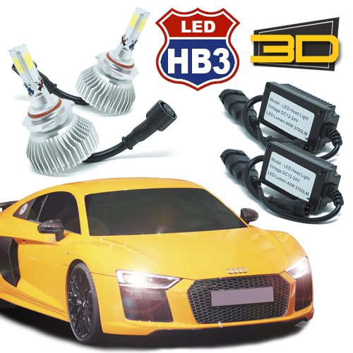 Par Lâmpada Super Led 7400 Lumens 12V 24V 3D HB3 9005 6000K  - BEST SALE SHOP