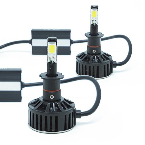 Par Lâmpada Super Led 7400 Lumens 12V 24V H3 6000K