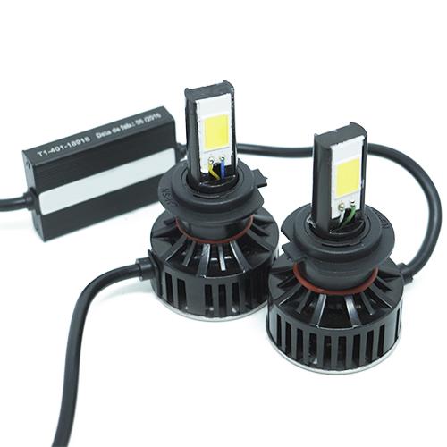Par Lâmpada Super Led 7400 Lumens 12V 24V H7 6000K