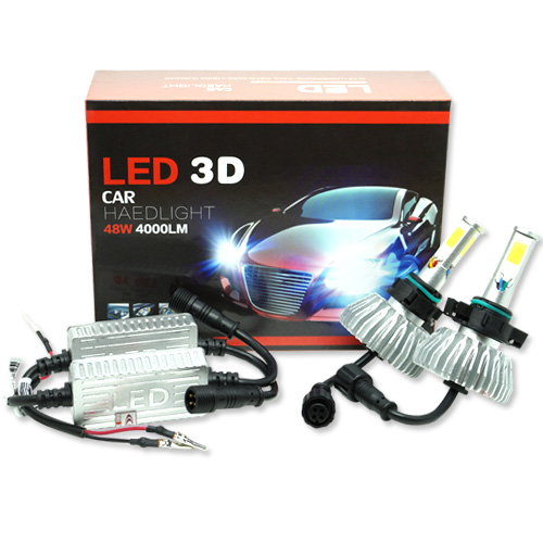 Par Lâmpada Super Led 8000 Lumens 12V 24V 48W Seven Parts 3D H16 6000K  - BEST SALE SHOP