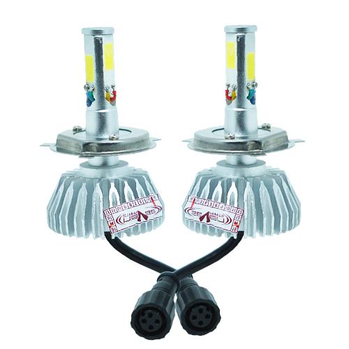 Par Lâmpada Super Led 8000 Lumens 12V 24V 48W Seven Parts 3D H4 (Bi) 6000K