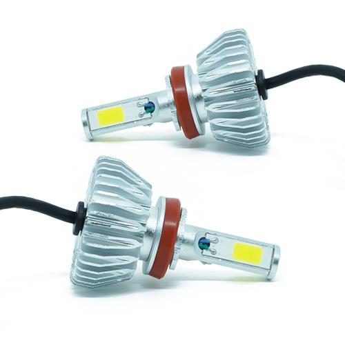 Par Lâmpada Super Led 8000 Lumens 12V 24V 48W Seven Parts 3D H8 6000K