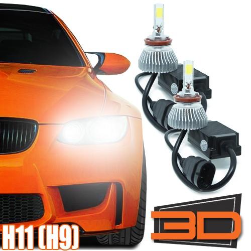 Par Lâmpada Super Led 9000 Lumens 12V 24V 3D H11 6000K  - BEST SALE SHOP
