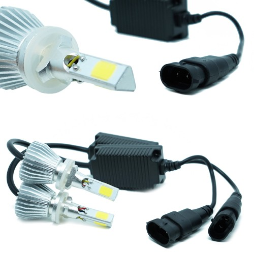 Par Lâmpada Super Led 9000 Lumens 12V 24V 50W Shocklight Power Led 3D H27 6000K  - BEST SALE SHOP