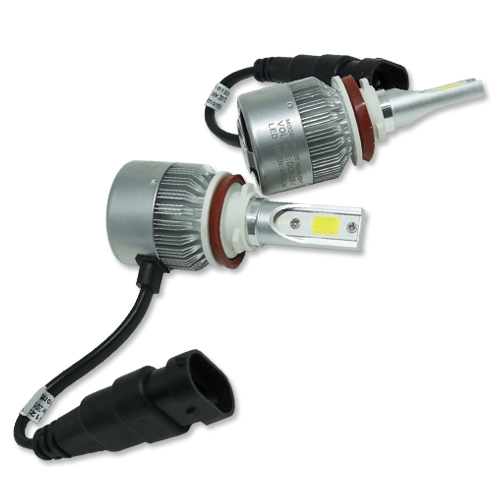 Par Lâmpada Super Led 9000 Lumens 12V 24V H11 6000K - BEST SALE SHOP