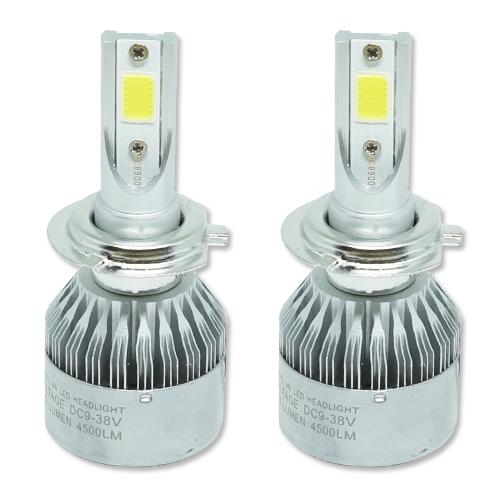 Par Lâmpada Super Led 9000 Lumens 12V 24V H7 6000K