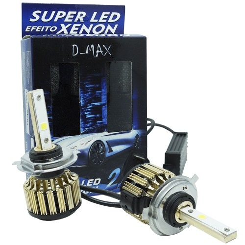 Par Lâmpada Super Led Automotiva Kit 9000 Lumens 12V 24V 48W D-Max Farol 6000K - BEST SALE SHOP