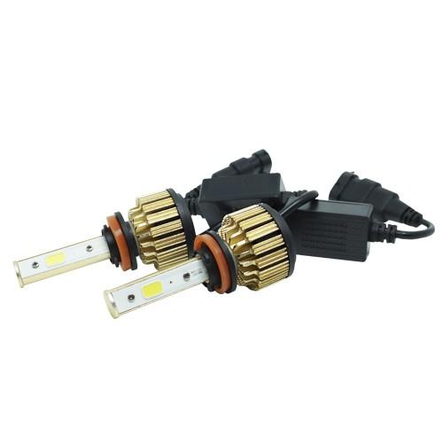 Par Lâmpada Super Led Automotiva Kit 9000 Lumens 12V 24V 48W D-Max Farol H11 6000K  - BEST SALE SHOP