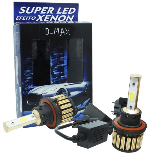Par Lâmpada Super Led Automotiva Kit 9000 Lumens 12V 24V 48W D-Max Farol H13 (Bi) 6000K  - BEST SALE SHOP