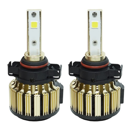 Par Lâmpada Super Led Automotiva Kit 9000 Lumens 12V 24V 48W D-Max Farol H16 6000K