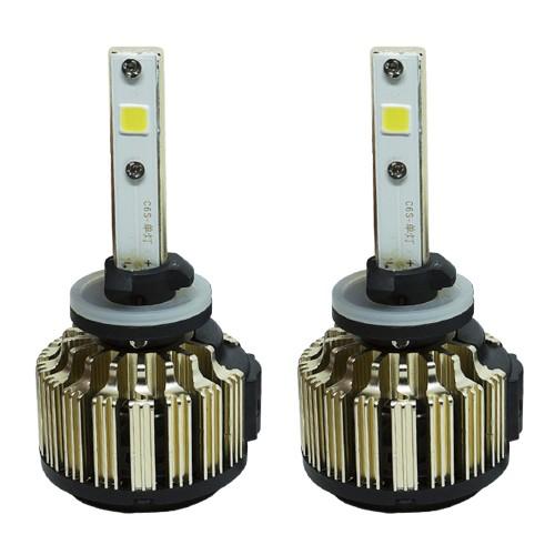 Par Lâmpada Super Led Automotiva Kit 9000 Lumens 12V 24V 48W D-Max Farol H27 6000K
