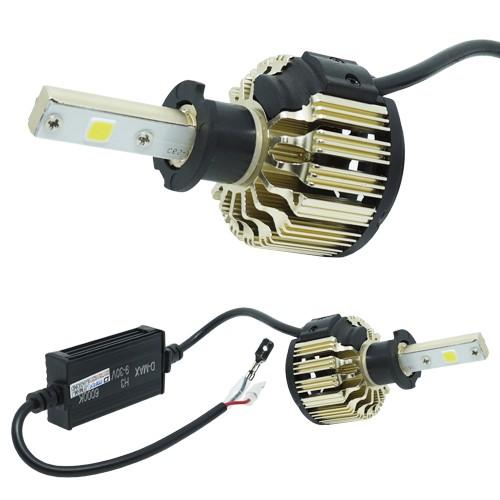Par Lâmpada Super Led Automotiva Kit 9000 Lumens 12V 24V 48W D-Max Farol H3 6000K