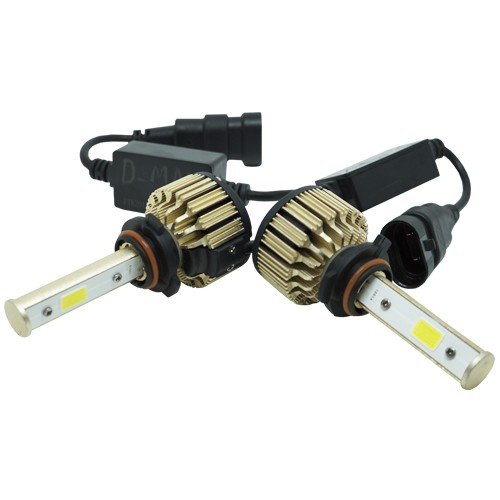 Par Lâmpada Super Led Automotiva Kit 9000 Lumens 12V 24V 48W D-Max Farol HB3 9005 6000K