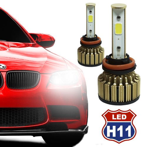 Par Lâmpada Super Led Automotiva Kit 9000 Lumens 12V 24V Farol H11 6000K  - BEST SALE SHOP