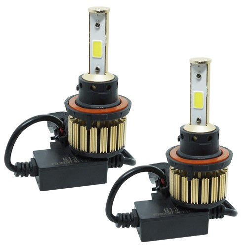 Par Lâmpada Super Led Automotiva Kit 9000 Lumens 12V 24V Farol H13 (Bi - baixa e alta) 6000K  - BEST SALE SHOP