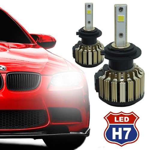 Par Lâmpada Super Led Automotiva Kit 9000 Lumens 12V 24V Farol H7 6000K  - BEST SALE SHOP