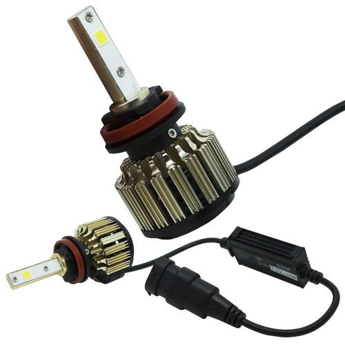Par Lâmpada Super Led Automotiva Kit 9000 Lumens 12V 24V Farol H8 6000K  - BEST SALE SHOP