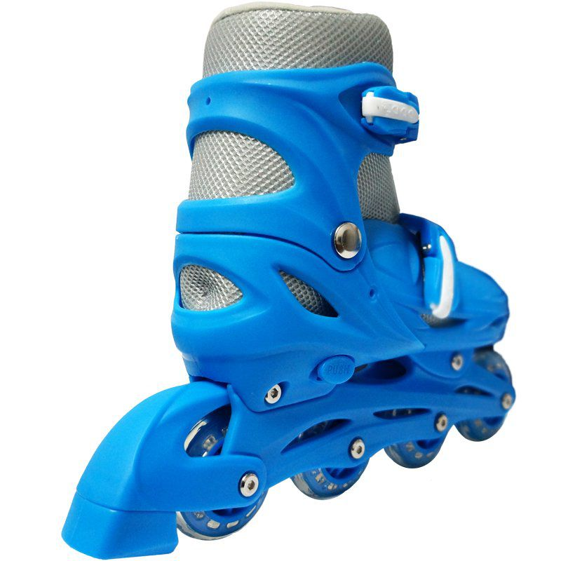 Patins Roller In Line 4 Rodas Infantil Masculino Azul Tamanho 29 30 31 32 Importway BW-018-AZ