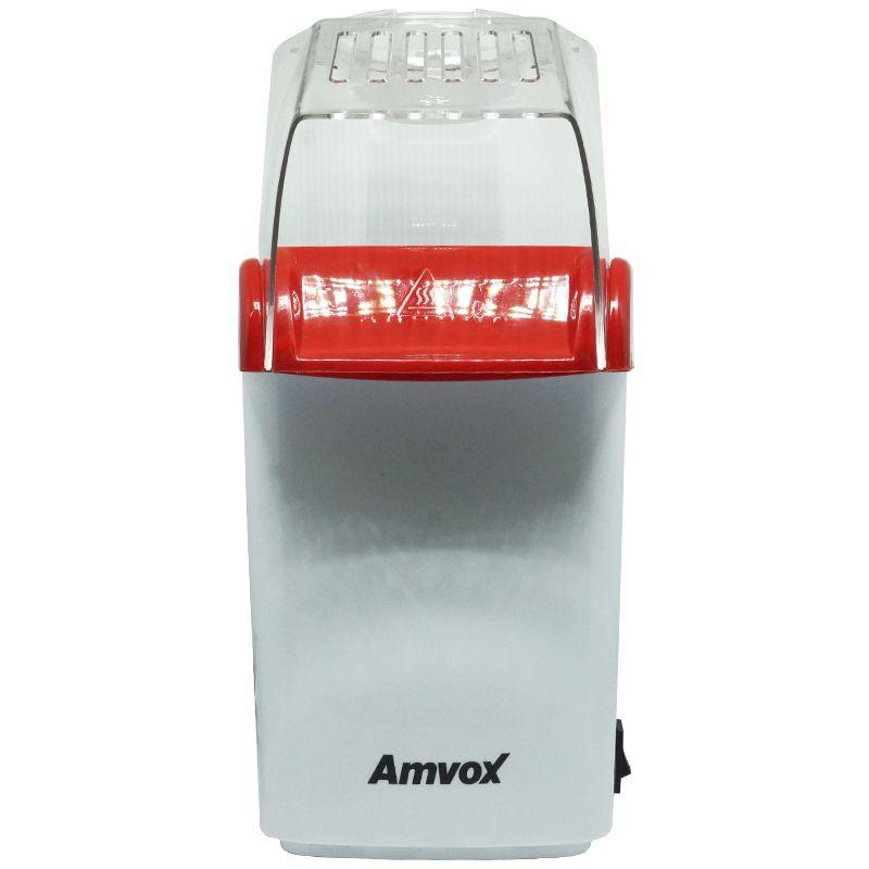 Pipoqueira Elétrica Sem Óleo 220V Derrete Manteiga Pipop Vermelha Branca Amvox APC 3406-2  - BEST SALE SHOP