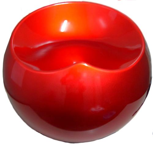 Puff Redondo Decorativo Rígido Abs Maua Design 602734 Vermelho  - BEST SALE SHOP