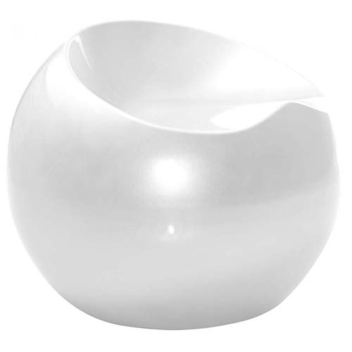 Puff Redondo Decorativo Rígido Abs Maua Design 602725 Branco - BEST SALE SHOP