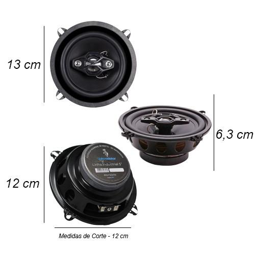 Rádio Mp3 Automotivo 66XX Fm Usb Sd Aux + Par Alto Falante 5 Polegadas 100W Rms Quadriaxial  - BEST SALE SHOP