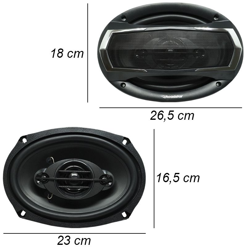 Rádio Mp3 Automotivo Bluetooth Fm Usb 6680BSC + Par Alto Falante Roadstar 6x9 Pol 240W Rms RS-695