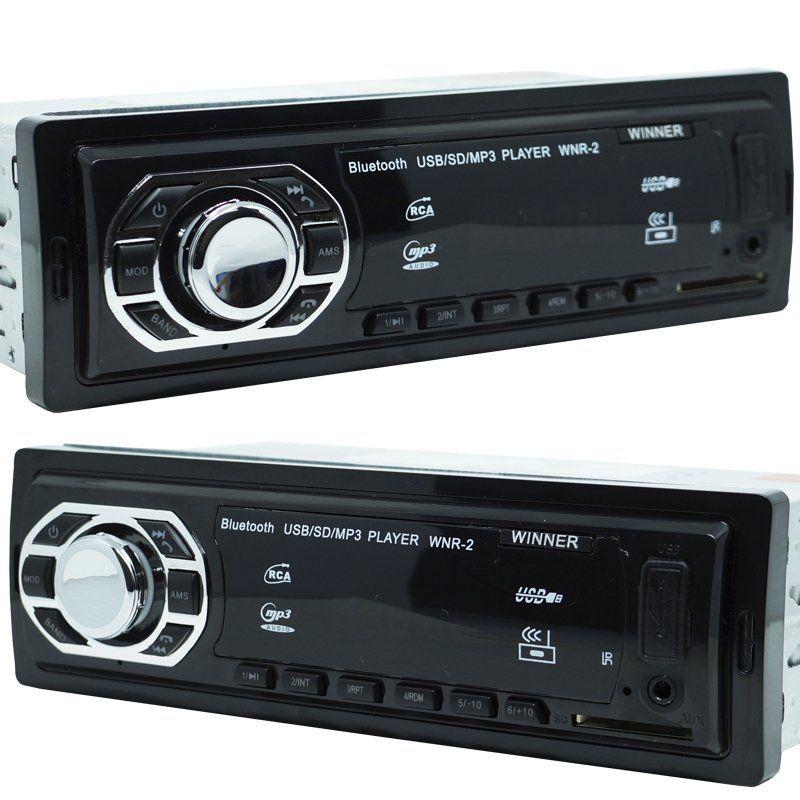 Rádio Mp3 Automotivo Bluetooth Winner Fm Usb + Par Alto Falante Roadstar 5 Pol 110W Rms  - BEST SALE SHOP