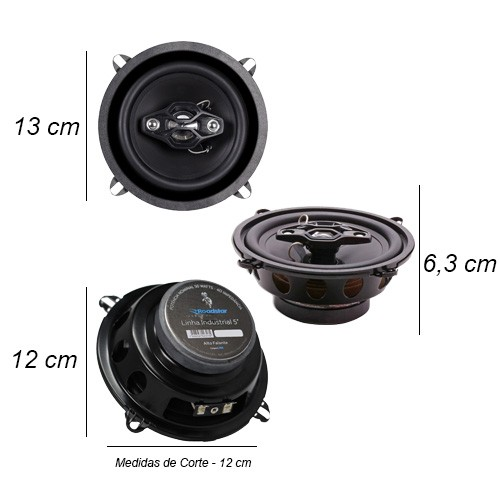 Rádio Mp3 Automotivo D-Max D6080 Fm Usb Sd Aux + Par Alto Falante 5 Polegadas 100W Rms Quadriaxial  - BEST SALE SHOP