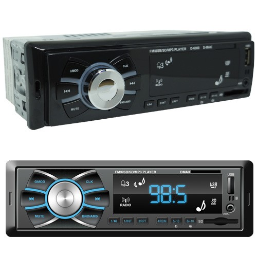Rádio Mp3 Automotivo D-Max D6080 Fm Usb Sd Aux + Par Alto Falante 6,5 Polegadas 120W Rms Quadriaxial  - BEST SALE SHOP