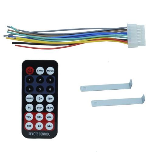 Rádio Mp3 Player Automotivo Bluetooth 6630B Fm Usb Controle + Par Alto Falante 6,5 Pol 120W Rms  - BEST SALE SHOP
