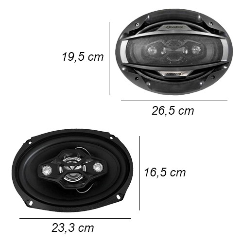 Rádio Mp3 Player Automotivo D-Max Fm Usb Sd Aux + Par Alto Falante 6x9 200W Rms Quadriaxial  - BEST SALE SHOP