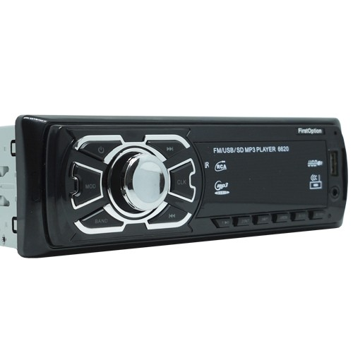 Auto Rádio Som Mp3 Player Automotivo Carro First Option 6620 Fm Sd Usb Controle  - BEST SALE SHOP