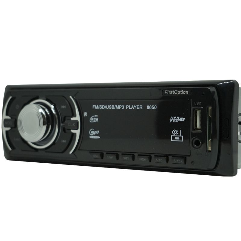 Auto Rádio Som Mp3 Player Automotivo Carro First Option 8650 Fm Sd Usb Controle  - BEST SALE SHOP