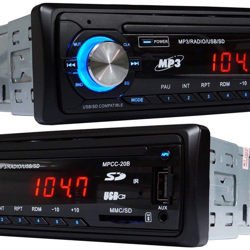 Rádio Mp3 Player Automotivo Toca Som Fm Usb Sd Aux Controle Exbom MPCC-20B  - BEST SALE SHOP