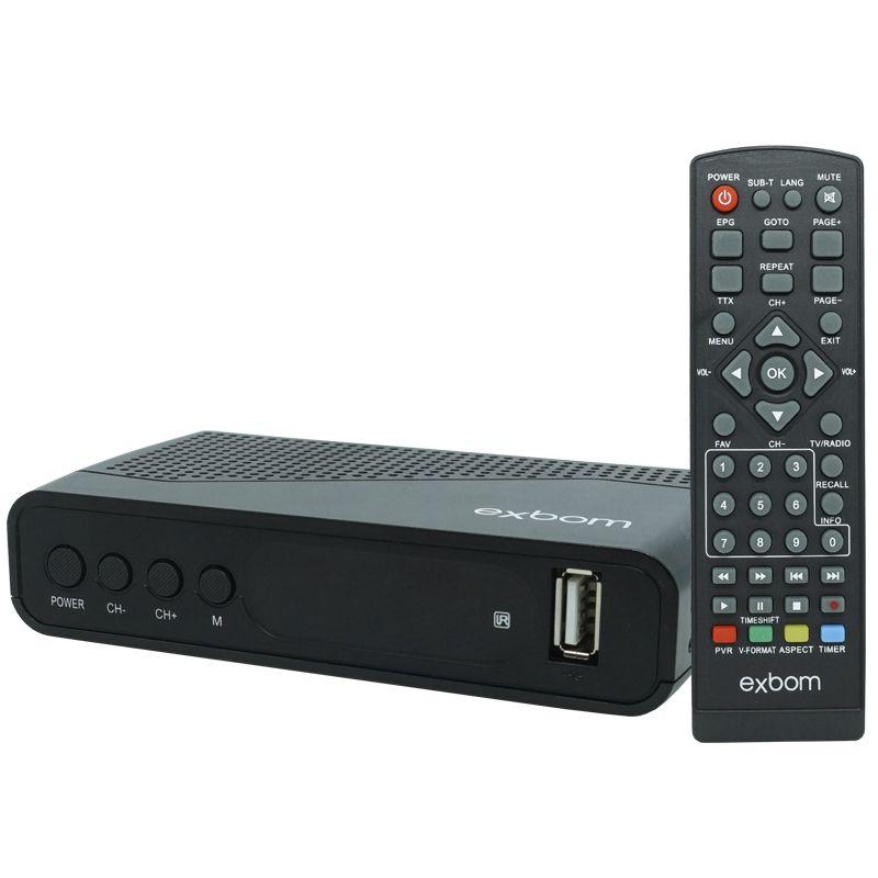 Receptor Conversor Tv Digital Full Hd Função Gravador Usb Hdmi Rca Exbom CDTV-30 com Filtro 4G  - BEST SALE SHOP