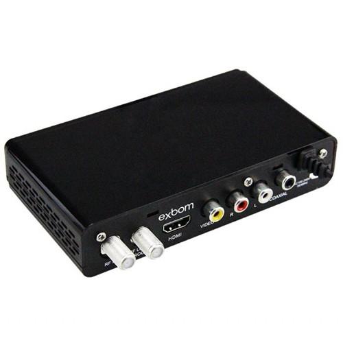 Receptor Conversor Tv Digital Full Hd Função Gravador Usb Hdmi Rca Exbom CDTV-20 com Filtro 4G  - BEST SALE SHOP