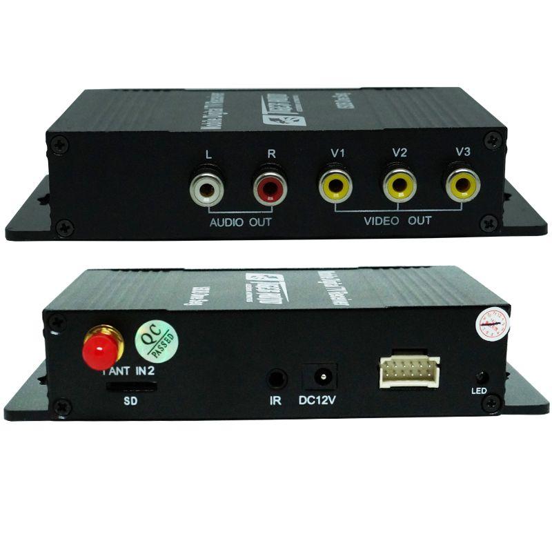 Receptor Tv Digital Automotivo para Dvd ISDB-T Antena 3 Saídas com Controle Universal  - BEST SALE SHOP