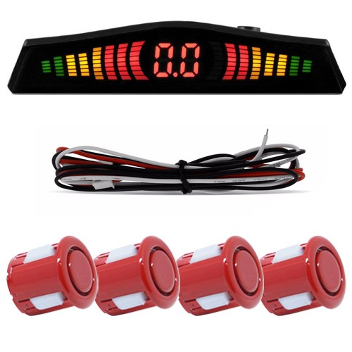 Sensor de Ré 4 Pto Display Led Cinoy 18Mm Yn-Sr002vm Vermelho  - BEST SALE SHOP