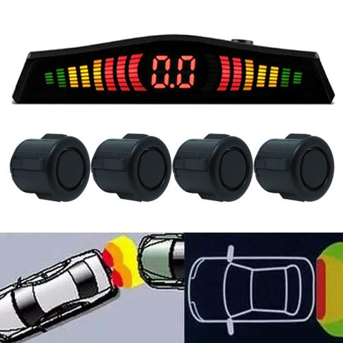 Sensor de Ré Estacionamento Universal 4 Pontos Display Led Cinoy 18mm YN-SR002POF Preto Fosco  - BEST SALE SHOP