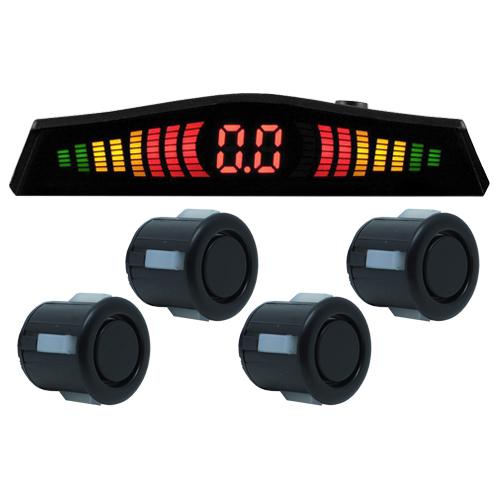 Sensor de Ré Estacionamento Universal 4 Pontos Display Led Tech One 18mmT1SE4PPOF Preto Fosco