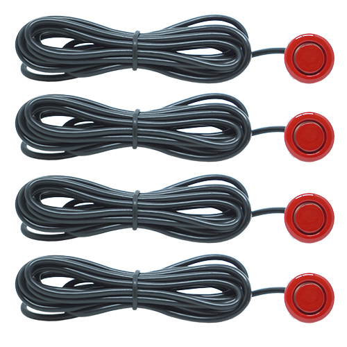 Sensor de Ré Estacionamento Universal 4 Pontos Display Led Tech One 18mmT1SE4PVM Vermelho  - BEST SALE SHOP