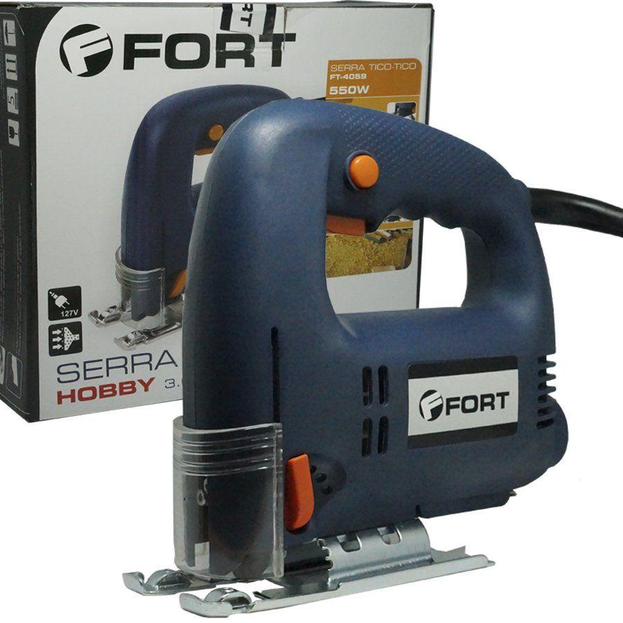 Serra Tico Tico 550W 110V 3000 Rpm Base Ajustável Corte até 45° Madeira Alumínio Aço Fort FT-4059  - BEST SALE SHOP