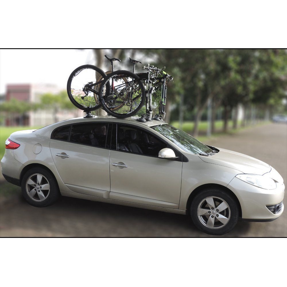 Suporte Rack Trans Bike Bicicleta Teto Carro Ventosa Vácuo Universal Gecko Racks Ecco Kit Completo