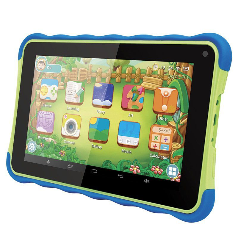 Tablet Infantil Kids Amvox Tela 7´´ 8GB Quad Core Android 4.4 Wifi 3G Educativo ATB 441K Verde Azul
