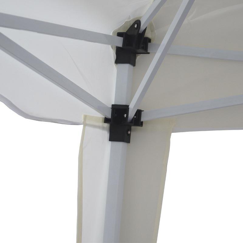 Tenda Gazebo Articulada 3x3 m Barraca Praia Camping Sanfonada Dobrável Branca Alumínio com Bolsa