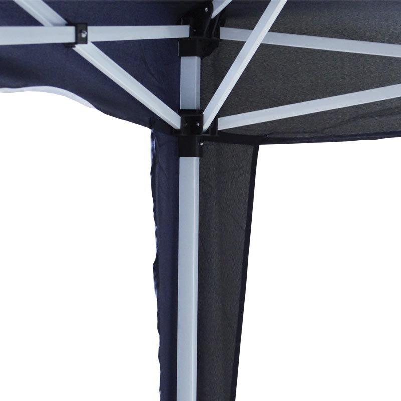 Tenda Gazebo Articulada 3x3x2,4 m Barraca Praia Sanfonada Dobrável Azul Alumínio com Bolsa